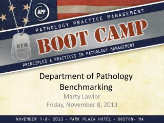 Department of Pathology Benchmarking