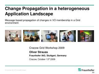 Change Propagation in a heterogeneous Application Landscape