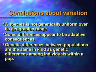 Conclusions about variation
