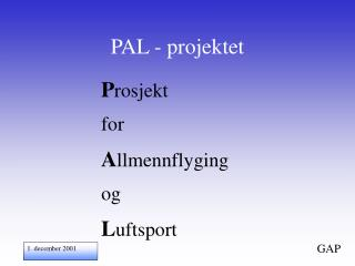 PAL - projektet