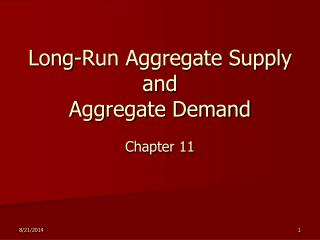 Long-Run Aggregate Supply and Aggregate Demand