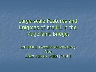 Large-scale Features and Enigmas of the HI in the Magellanic Bridge.