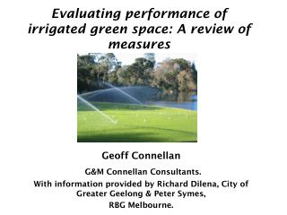 Evaluating performance of irrigated green space: A review of measures