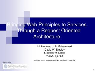 Bringing Web Principles to Services  – Through a Request Oriented Architecture