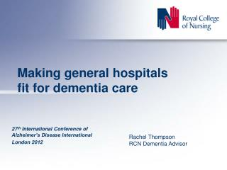 Making general hospitals fit for dementia care