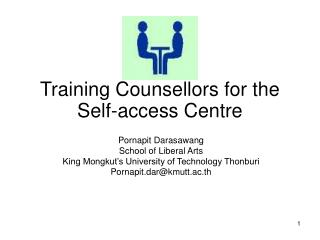 Training Counsellors for the Self-access Centre