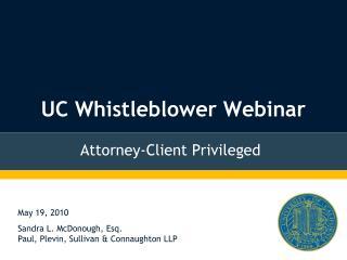 UC Whistleblower Webinar