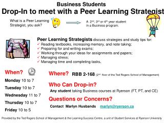 Drop-In to meet with a Peer Learning Strategist