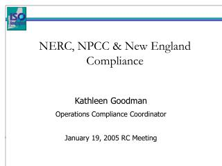 NERC, NPCC & New England Compliance