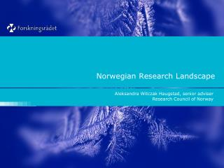 Norwegian Research Landscape