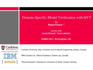 Domain-Specific Model Verification with QVT