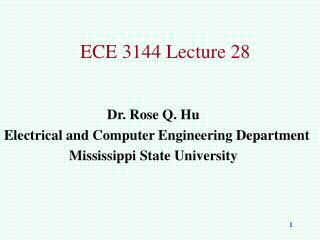 ECE 3144 Lecture 28