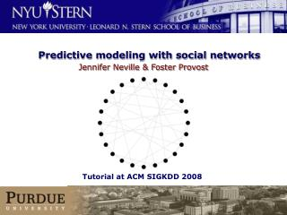 Predictive modeling with social networks