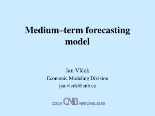 Medium–term forecasting model