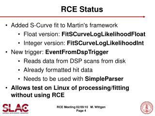 RCE Status