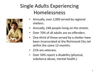 Single Adults Experiencing Homelessness