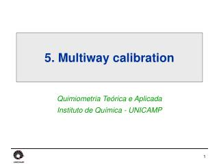 5. Multiway calibration