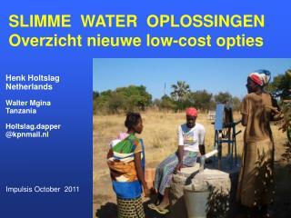 SLIMME  WATER  OPLOSSINGEN Overzicht nieuwe low-cost opties
