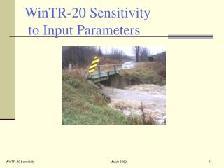 WinTR-20 Sensitivity  to Input Parameters