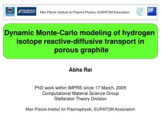 Dynamic Monte-Carlo modeling of hydrogen  isotope reactive-diffusive transport in  porous graphite