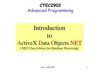 CTEC2902 Advanced Programming