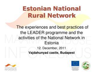 Estonian  National Rural  Network