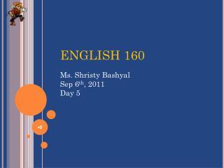 ENGLISH 160