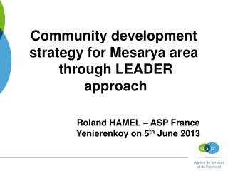 Community development  strategy for Mesarya area  through LEADER approach