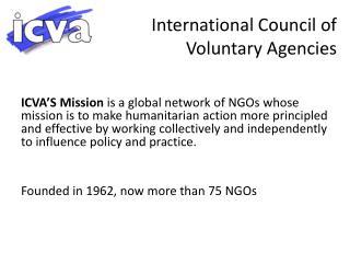 International Council of Voluntary Agencies