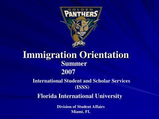 Immigration Orientation