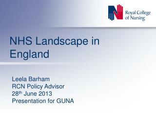 NHS Landscape in England