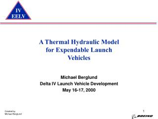 A Thermal Hydraulic Model for Expendable Launch  Vehicles