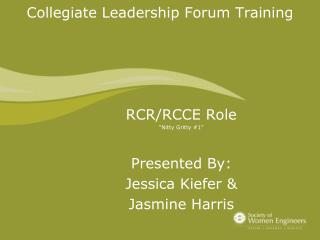 Collegiate Leadership Forum Training