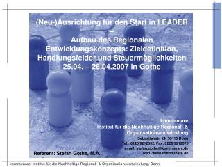 (Neu-)Ausrichtung für den Start in LEADER –