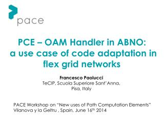 PCE – OAM Handler in ABNO:  a use case of code adaptation in flex grid networks