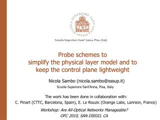 Probe schemes to  simplify the physical layer model and to  keep the control plane lightweight