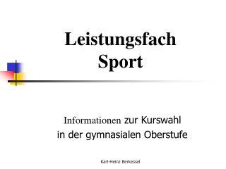Leistungsfach Sport