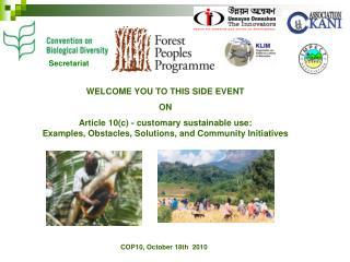 COP10, October 18th  2010