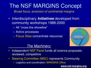 The NSF MARGINS Concept