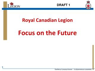 Royal Canadian Legion Focus on the Future