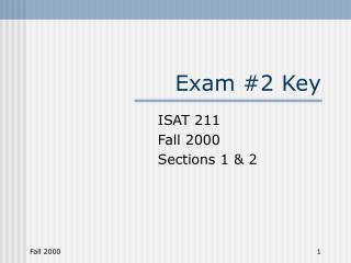 Exam #2 Key