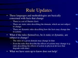 Rule Updates