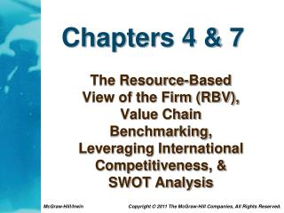 Chapters 4 & 7