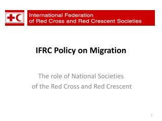IFRC Policy on Migration