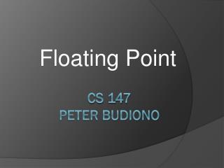 CS 147 Peter Budiono