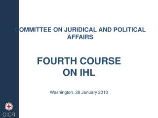 COMMITTEE ON JURIDICAL AND POLITICAL AFFAIRS