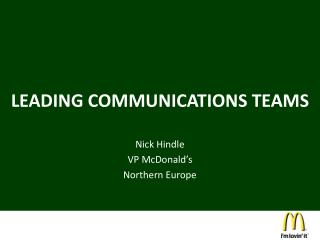 LEADING COMMUNICATIONS TEAMS
