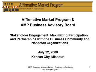 Affirmative Market Program & AMP Business Advisory Board