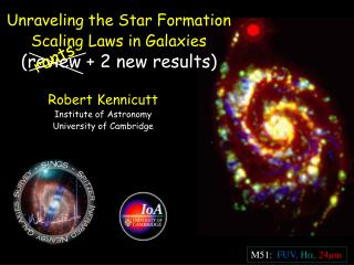Unraveling the Star Formation Scaling Laws in Galaxies (review + 2 new results)