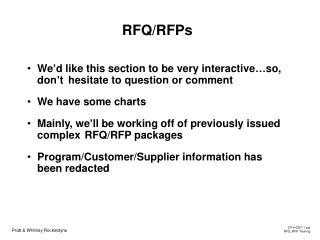 RFQ/RFPs